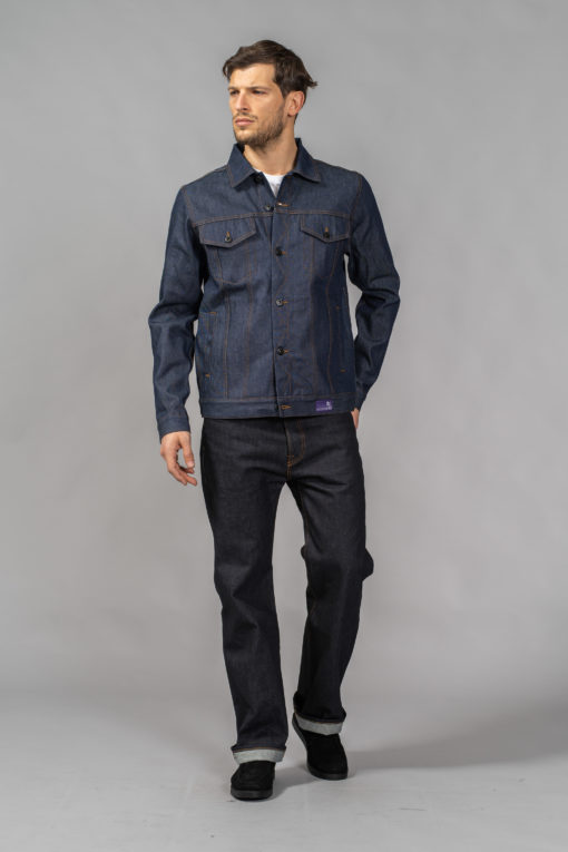 denim jeans blue selvedge laser jacket regular prps x jonathan mannion candiani denim store