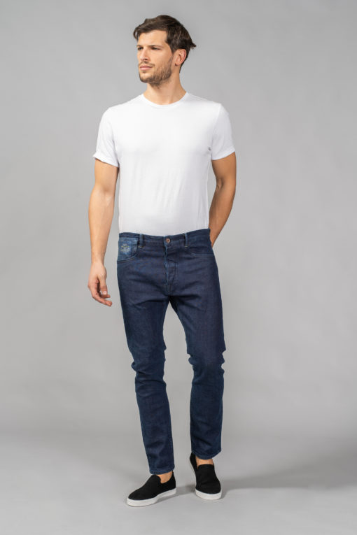 denim jeans chino style zip front trousers slim matias candiani denim store