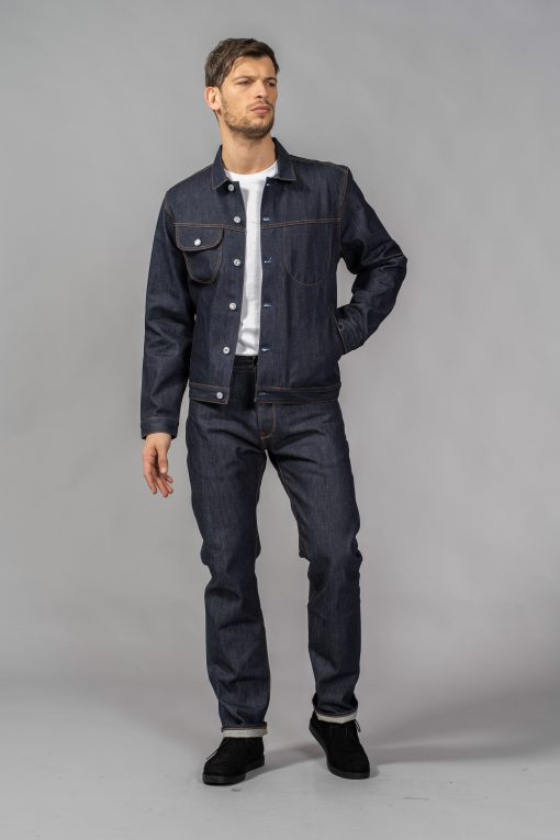 denim jeans bdj-02 rider jacket special #2 15 oz. vintage indigo selvedge regular benzak denim developers candiani denim store
