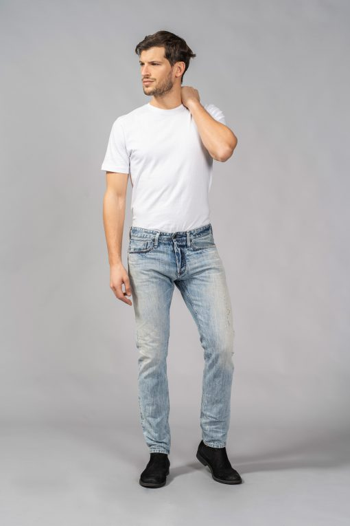 denim jeans point break indigo heritage light blue slim denham candiani denim store