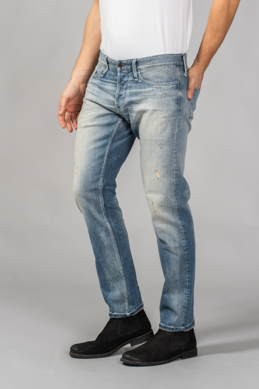 denim jeans razor light blue slim denham candiani denim store