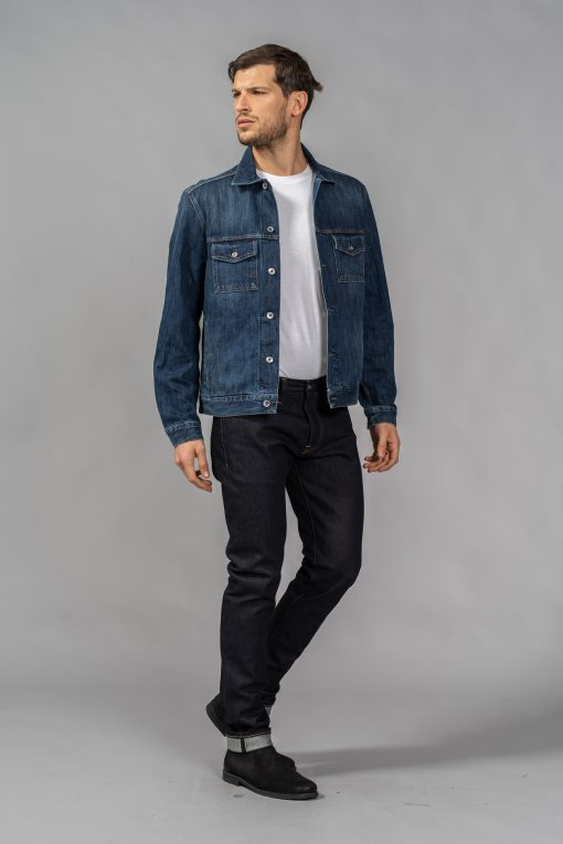 denim jeans standard jacket 13oz. indigo selvedge regular c.o.f. studio candiani denim store
