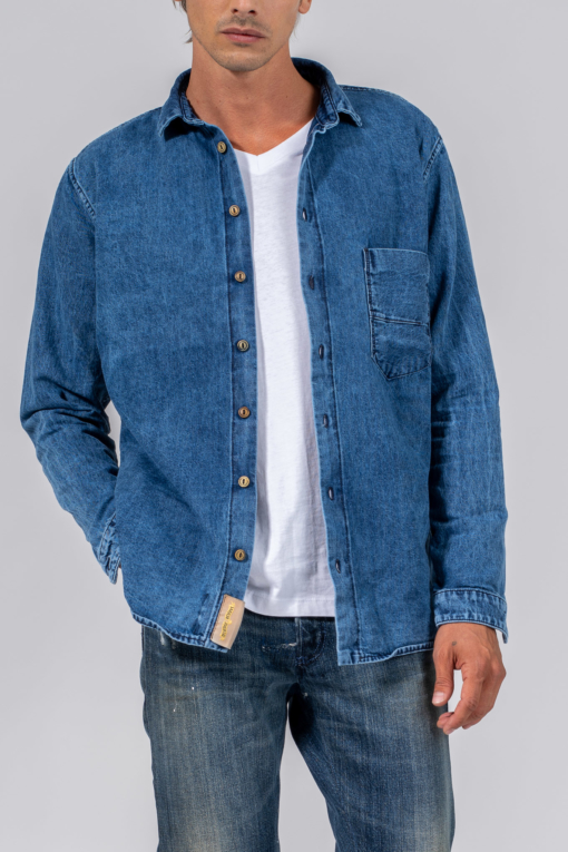 denim jeans Relaxed Button Down Shirt relaxed closed candiani denim store