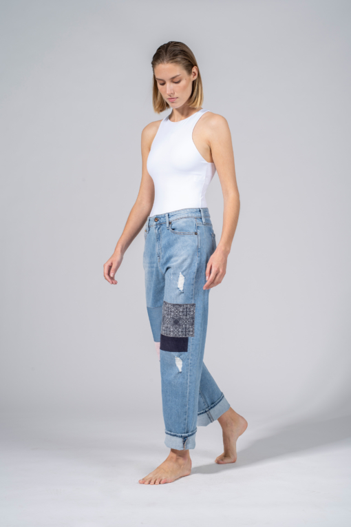 denim jeans alex grhippy blue relaxed denham candiani denim store
