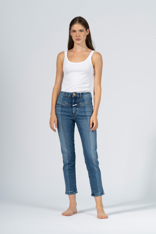 denim jeans duet slim closed indigo icon candiani denim store