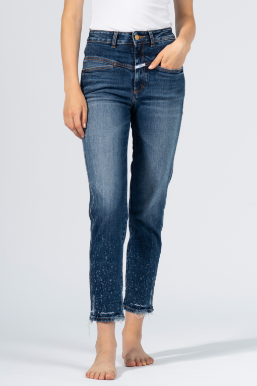 denim jeans fray slim closed indigo icon candiani denim store