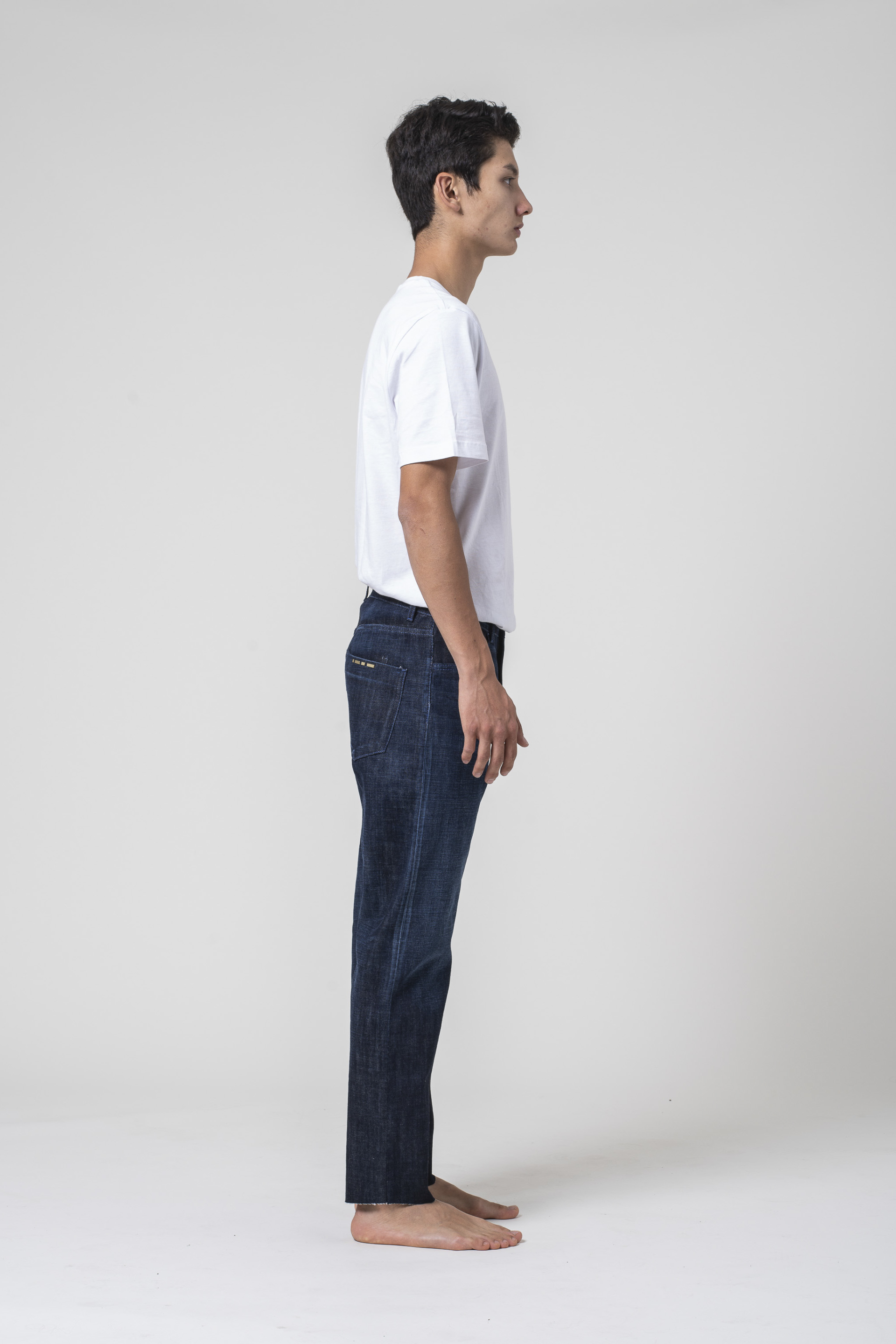 denim jeans Apollo Man Tapered Selvedge Blue slim blue of a kind candiani denim store