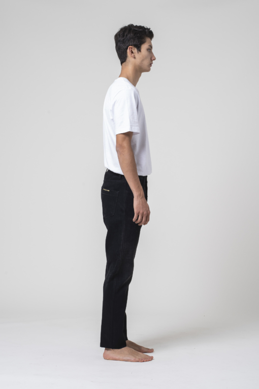 denim jeans Apollo Man Tapered Selvedge Black tapered blue of a kind candiani denim store