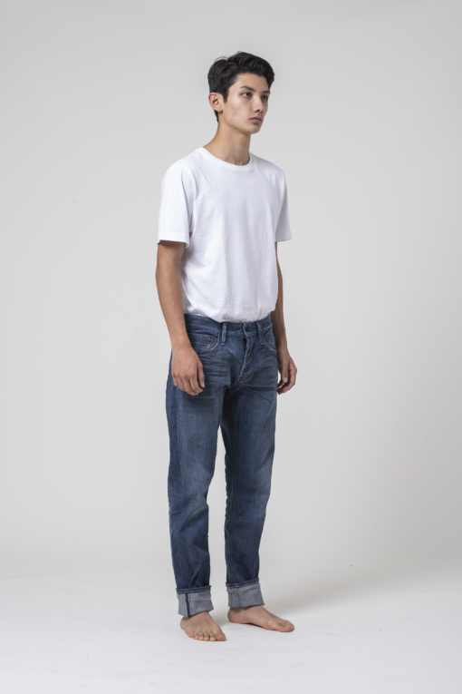 denim jeans Razor Biostretch Selvedge Denim Denham slim candiani denim store